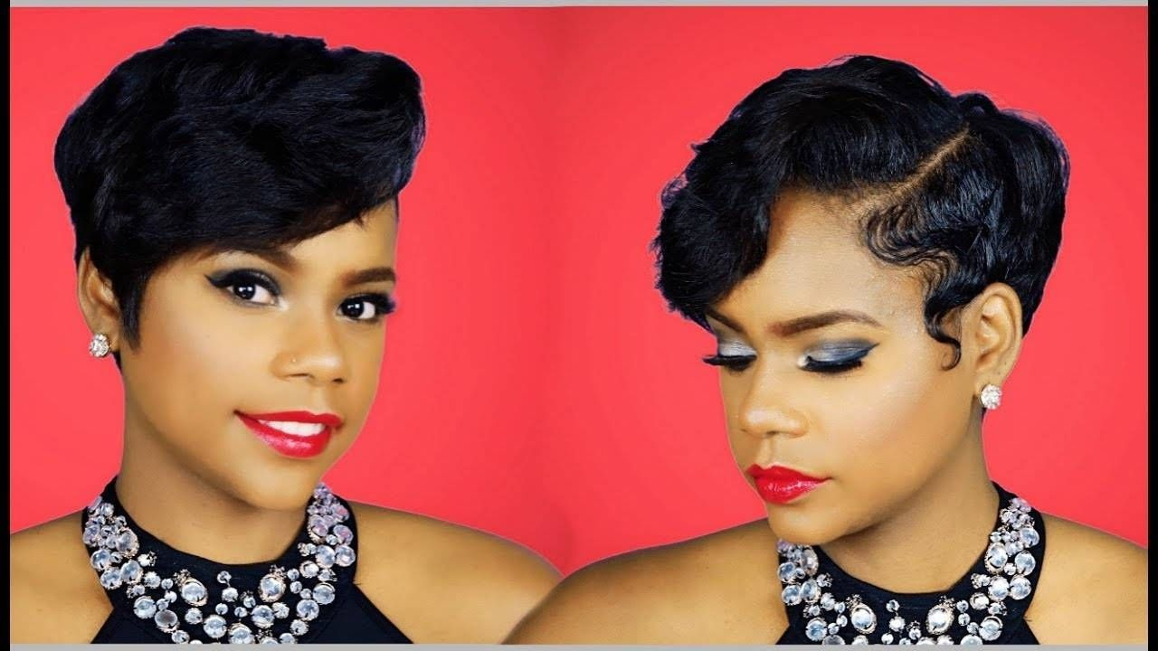 Short hair style my layered pixie cut waves at home relaxed short