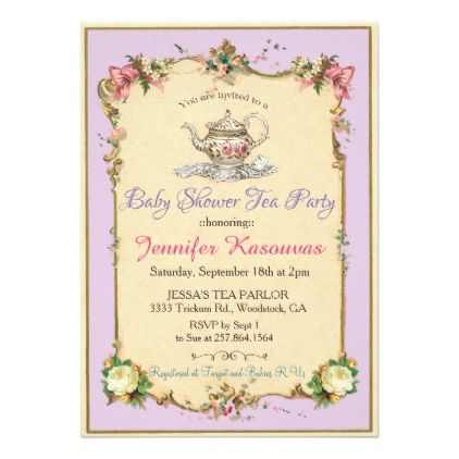 Vintage Floral Bride Silhouette Bridal Shower Invitation In 2018