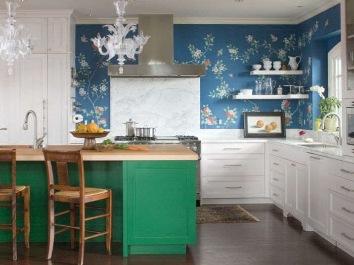 wandfarbe k che ausw hlen 70 ideen wie sie eine wohnliche k che gestalten k che m bel. Black Bedroom Furniture Sets. Home Design Ideas