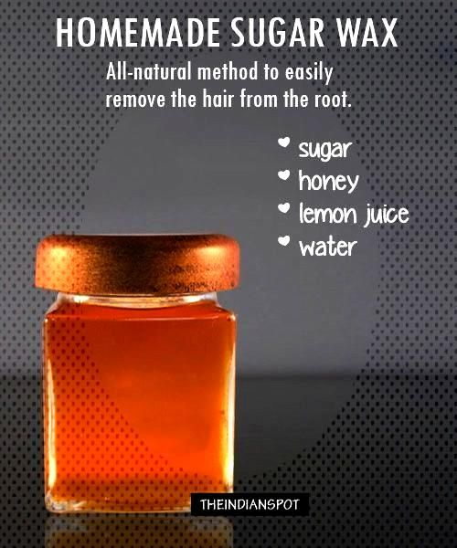 Sugaring is an all-natural method that uses a paste or gel made from sugar, water and lemon juice t