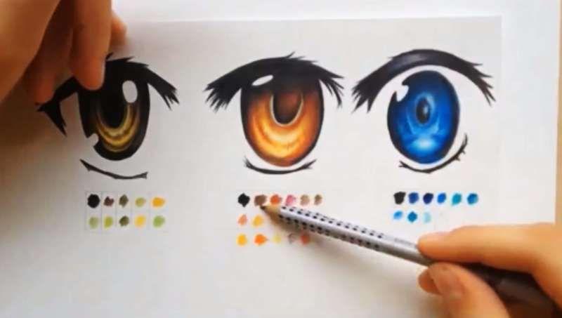 How To Color Using Colored Pencils Manga Eyes Anime Art Tutorial Manga Eyes Anime Drawings