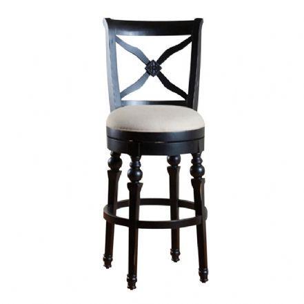 219  Kendra Swivel Bar Stool- Antique Black