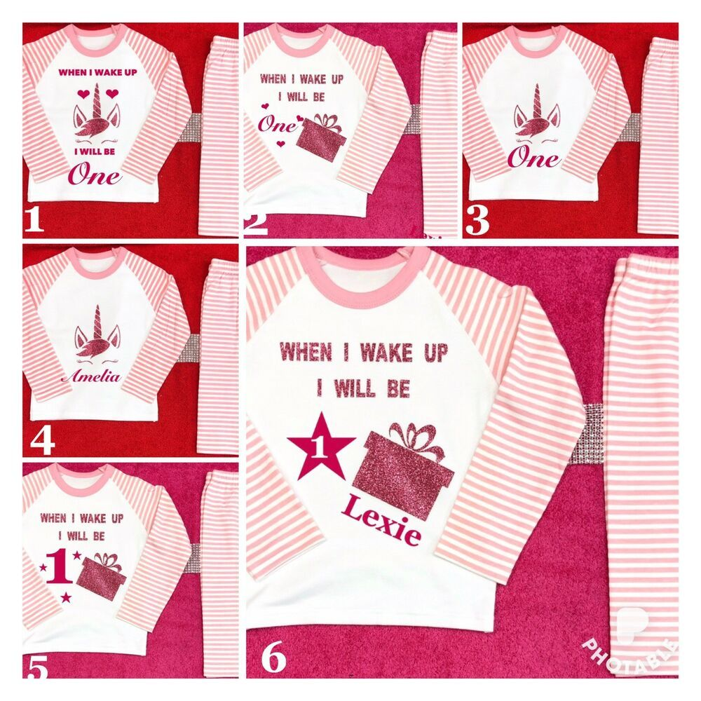 When I Wake Up I'll Be One Personalised Baby Pyjamas Boy Any Name