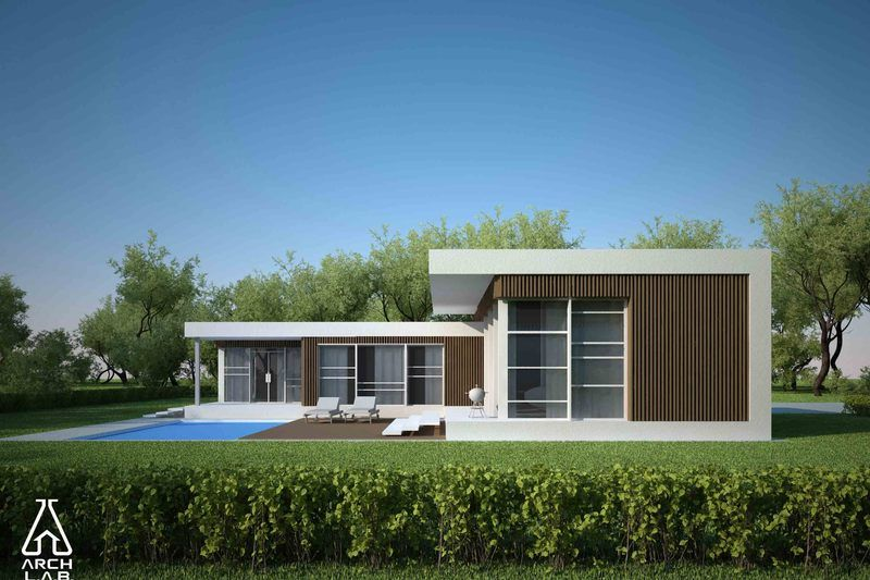 Modern Style House Plan   3 Beds 2 Baths 1539 Sq/Ft Plan Exterior   Otheru2026