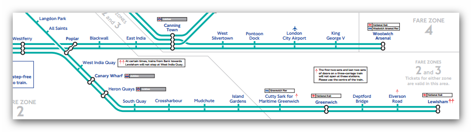 London DLR Map Tofrom Greenwich Cutty Sark Station Many DLR - London dlr map
