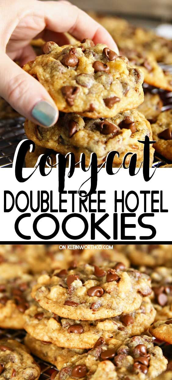 Copycat DoubleTree Hotel Cookies are a thick  chewy chocolate chip cookie just like the famous recipe youll find when visiting the Doubletree Hotel Chain These cookies ar...
