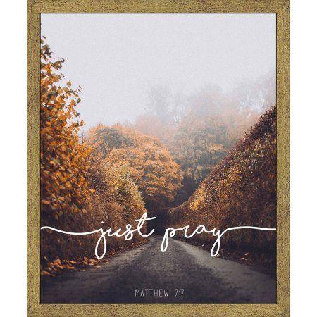 Living 31, Just Pray II Photography , 15.5x19.5 Wall ART, Gold