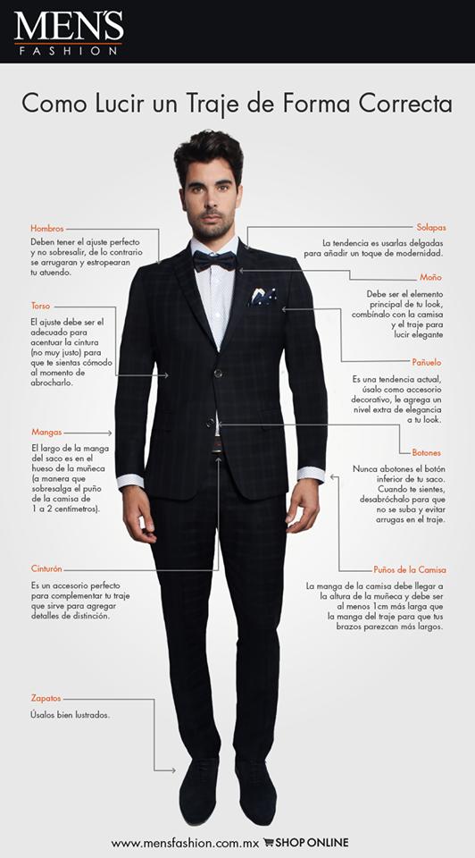35183ea6e Conoce los elementos que conforman el   traje perfecto del hombre moderno.  ¡Viste   Fashion ! www.mensfashion.com.mx