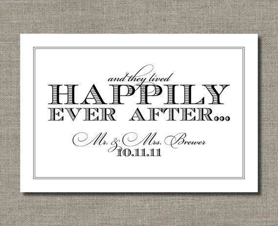 happily ever after printable wedding poster, from flairdesignery Wedding Congratulations Sign happily ever after printable wedding poster, car sign, or guest book sign by flair designery wedding congratulations signs