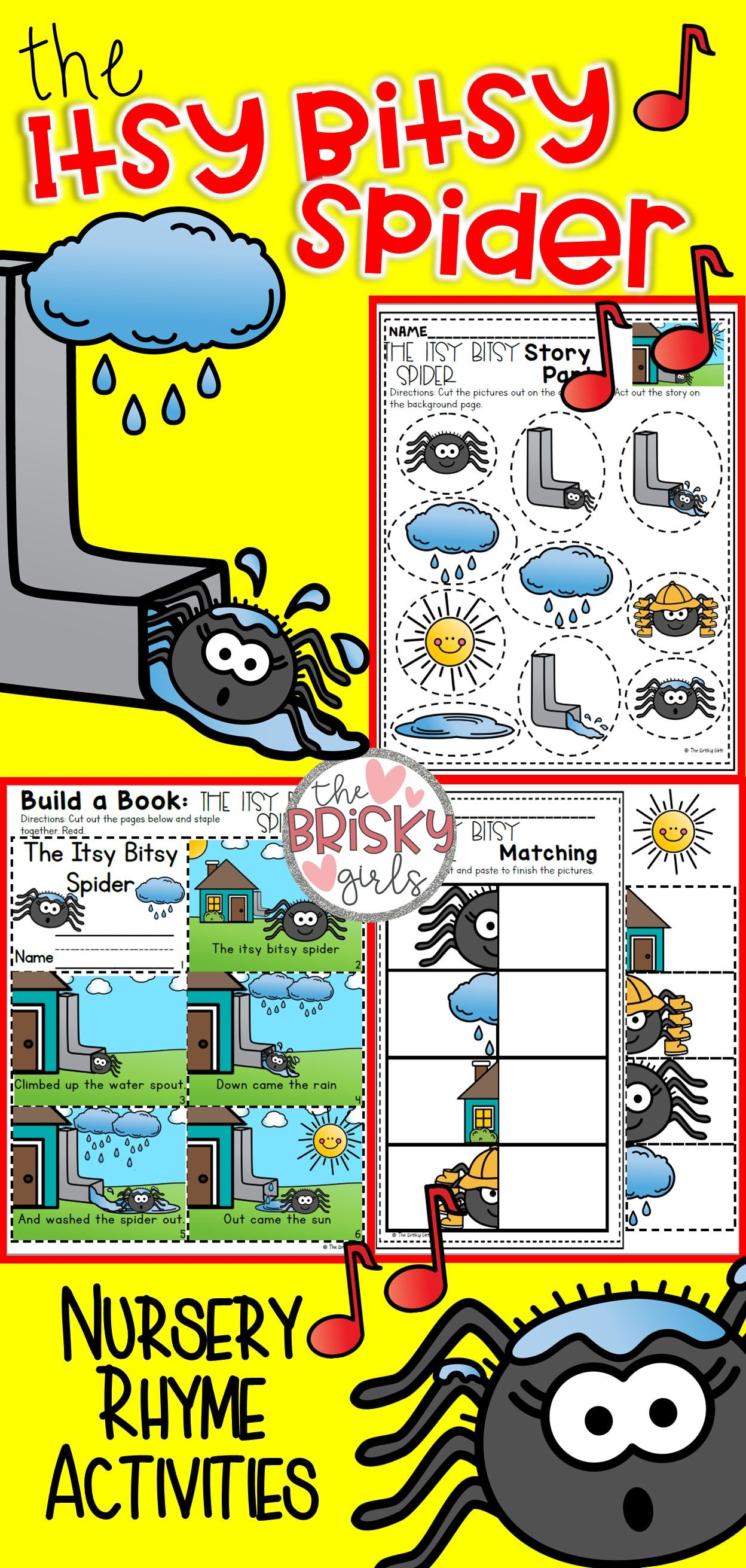 Nursery Rhymes Preschool The Itsy Bitsy Spider Nursery