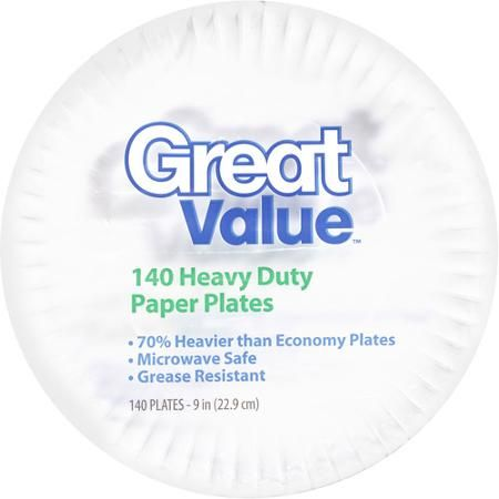 Great Value Heavy Duty 9  Paper Plates 140 count  sc 1 st  Pinterest & Great Value Heavy Duty 9