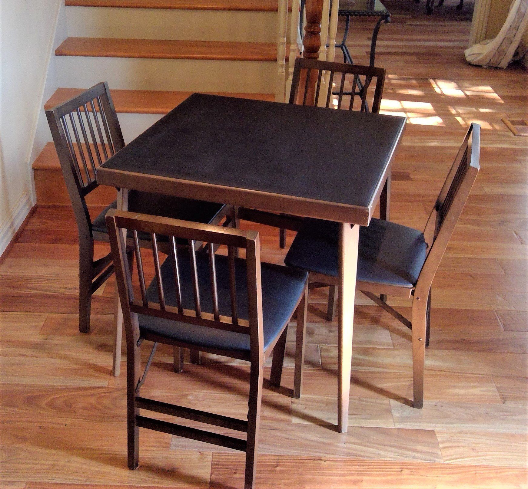 A Personal Favorite From My Etsy Shop Https Www Etsy Com Listing 600607030 Vintage Stakmore Solid Wood Folding Wood Folding Table Card Table And Chairs Chair