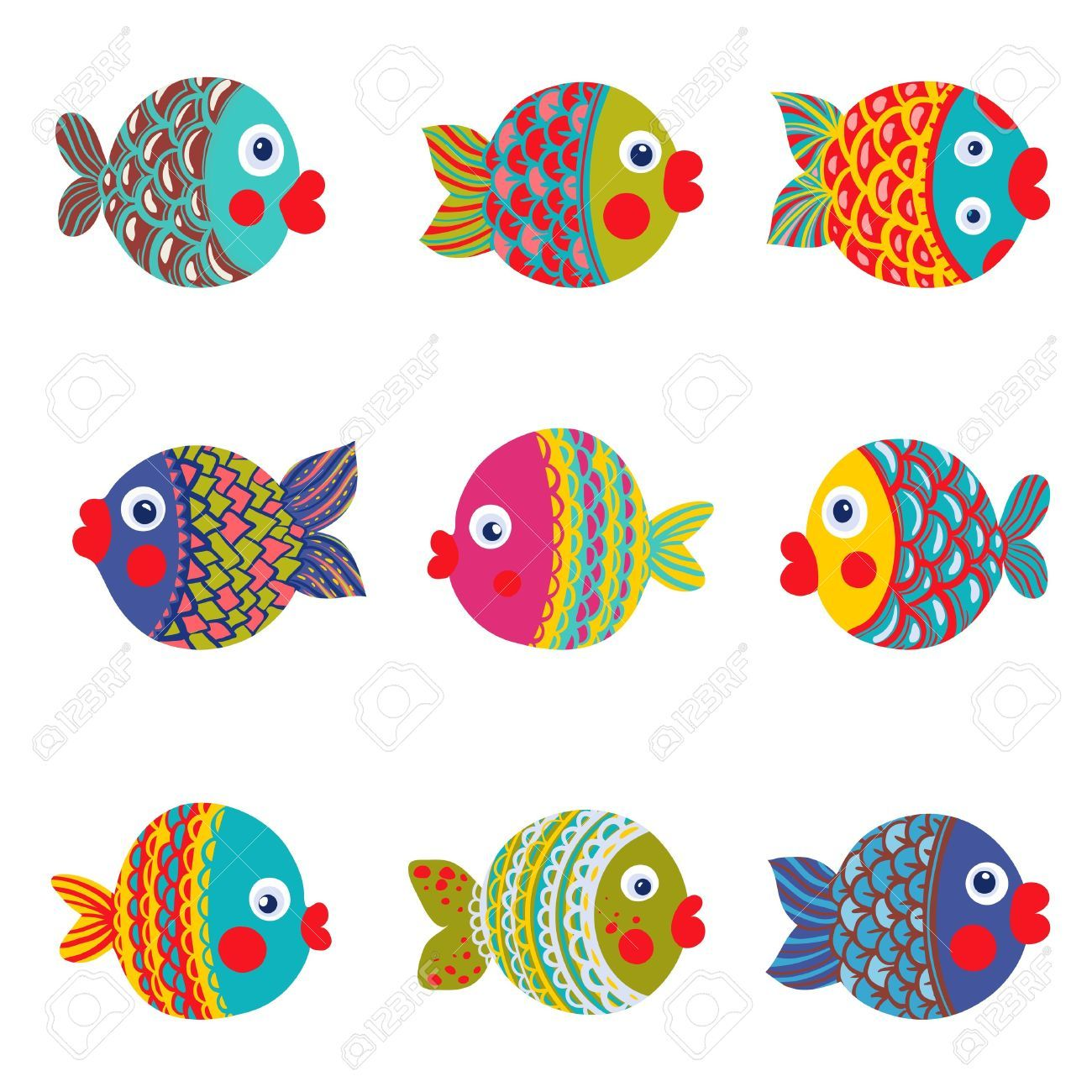 Pesci tropicali disegni colorati cerca con google for Immagini pesciolini