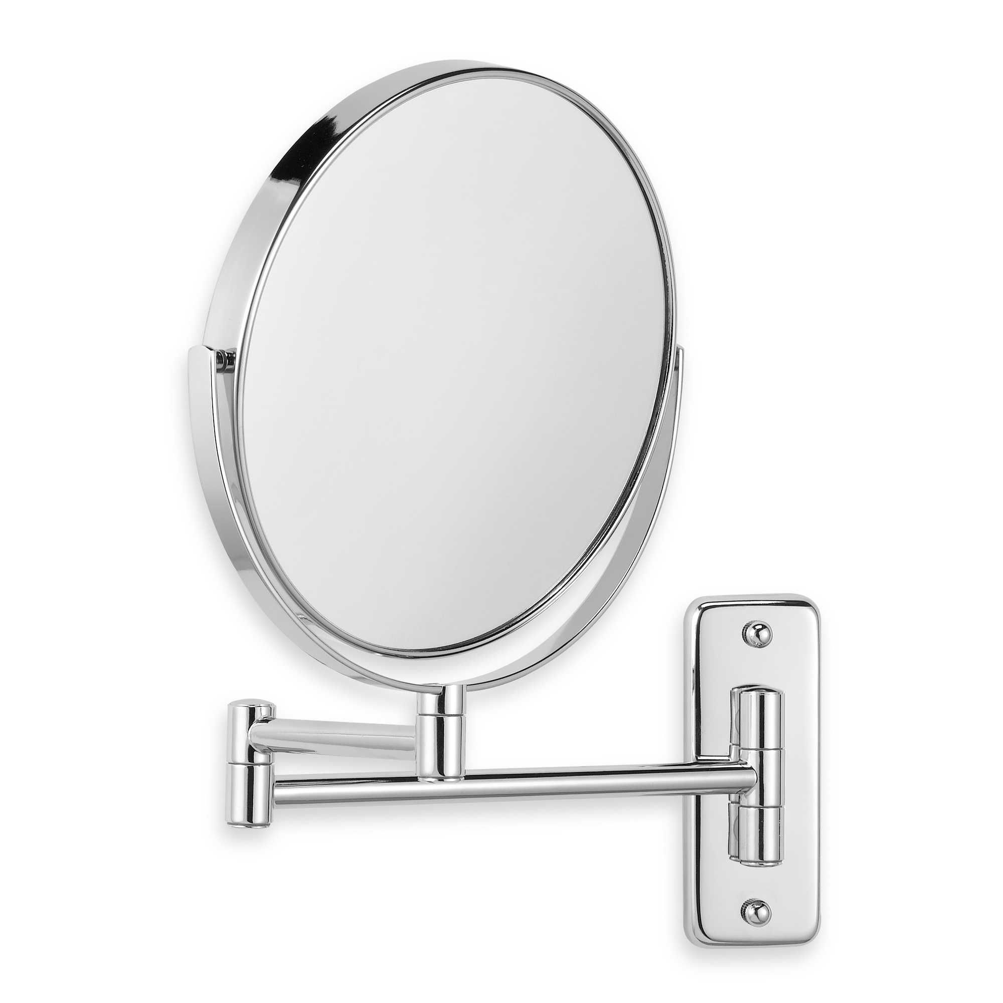 Jerdon Wall Mount 8x 1x Magnifying Swivel Mirror In Chrome Wall