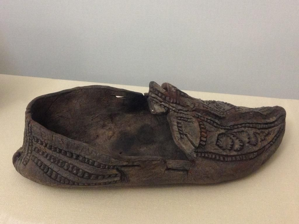 Viking Age Decorated Leather Shoe Found In A Bog