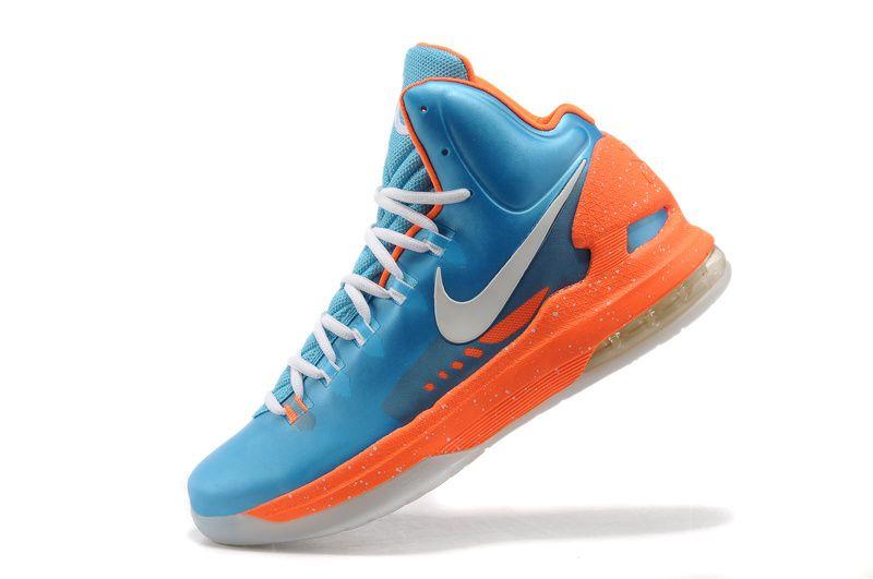 kevin durant shoes 2013 Nike KD V SkyBlue Team Orange metallic silver ·  Kevin Durant ShoesNike ZoomBlue OrangeCheap NikeNike Air MaxConverse ...