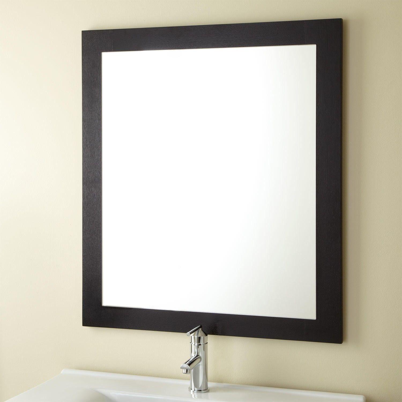 Sylar+Vanity+Mirror++Black Decorative bathroom mirrors