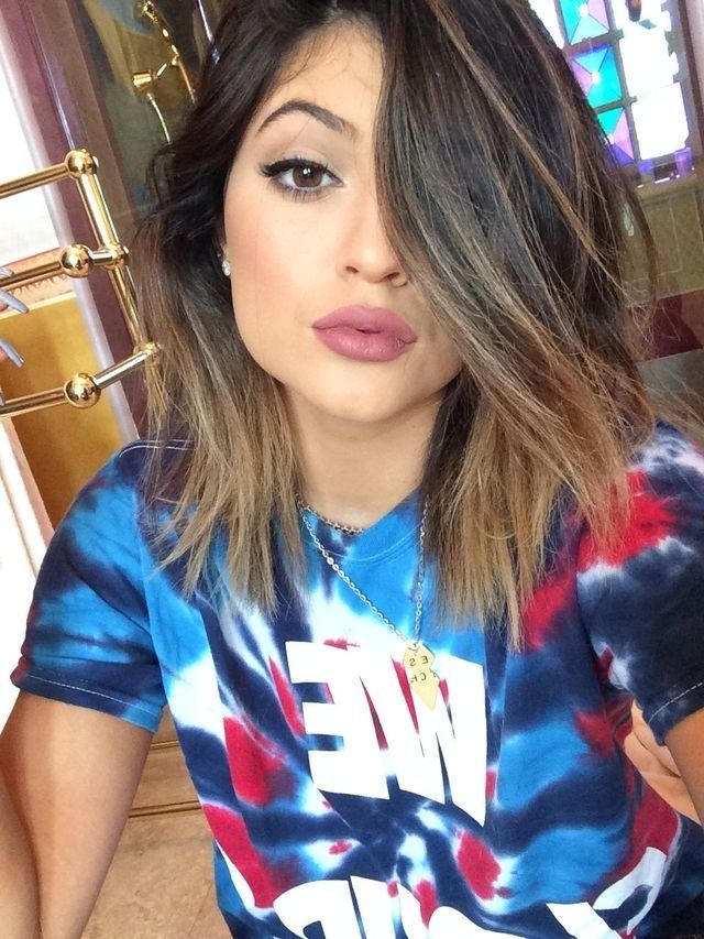 Kylie Jenner. Ombre. Hair. Makeup. Adoring her style for sure
