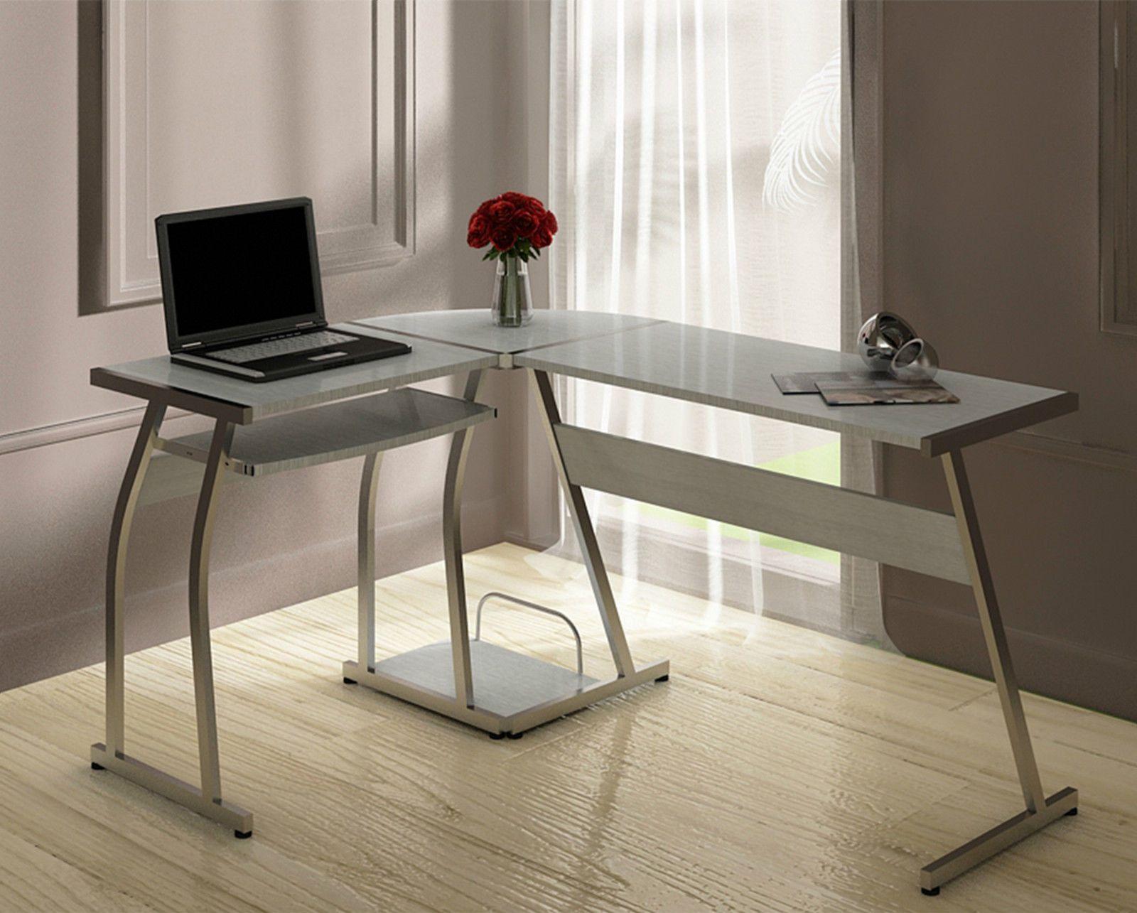 Sleek Desk Grey L Shape Desk Homeoffice Desk Grey Httpabreo.co.ukhome