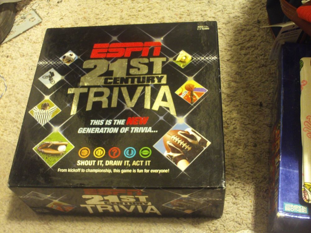 Espn 21 Century Sports Trivia Board Game Incomplete Trivia Board Games Trivia Pinterest For Business