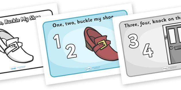 One Two Buckle My Shoe Sequencing A4 Nursery Rhymes Activities Nursery Rhymes Preschool Counting Rhymes