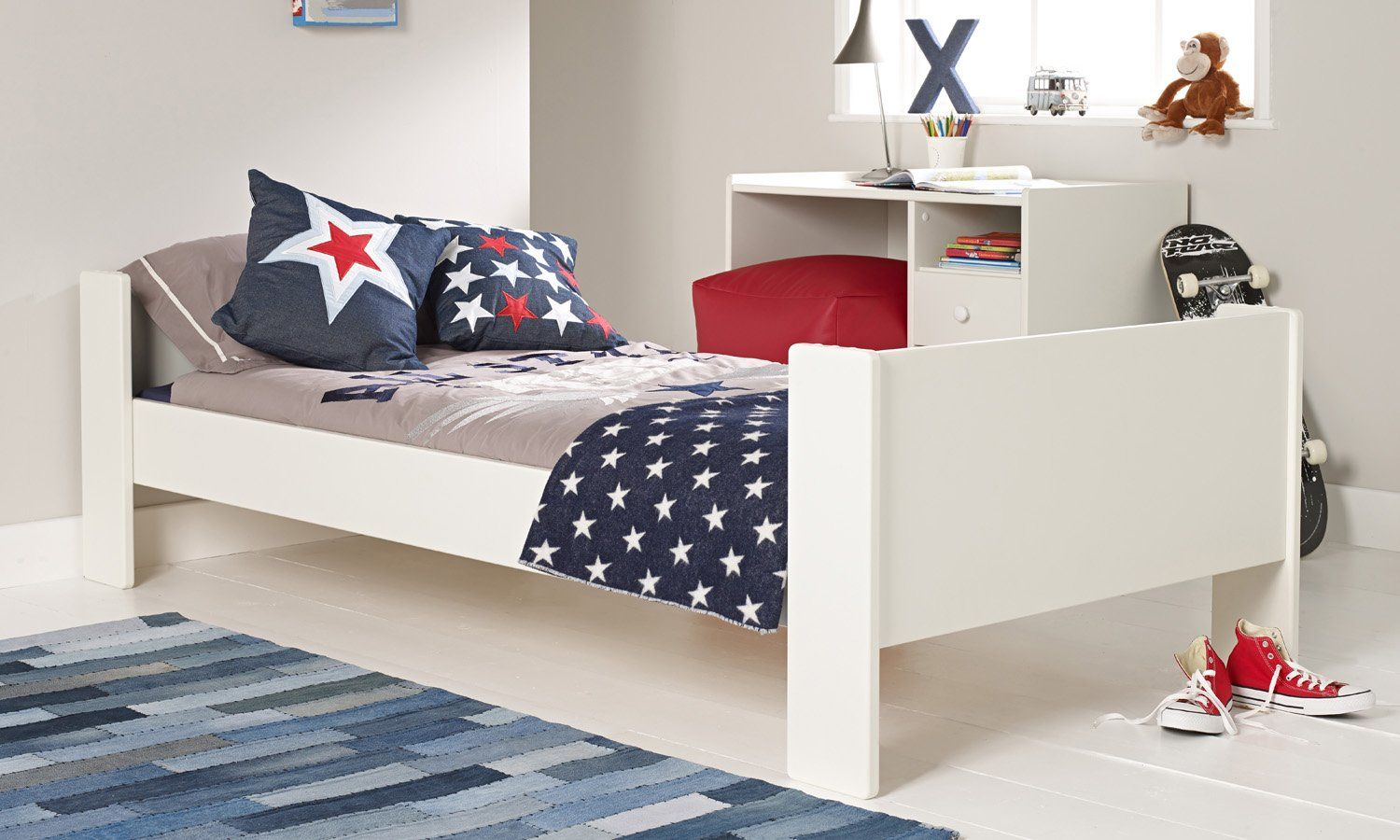 Solitaire White Single Bed | Room to Grow | Kids bunk beds, Kid