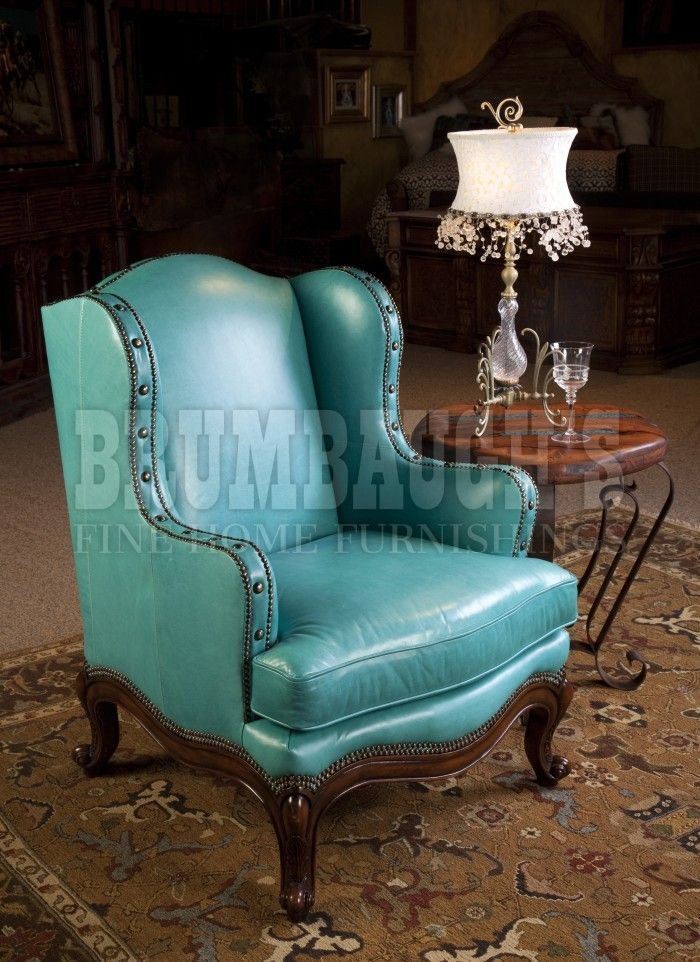 Redford Turquoise | Brumbaughs Fine Home FurnishingsBrumbaughs Fine Home  Furnishings. Turquoise ChairWestern DecorRustic ... Nice Design