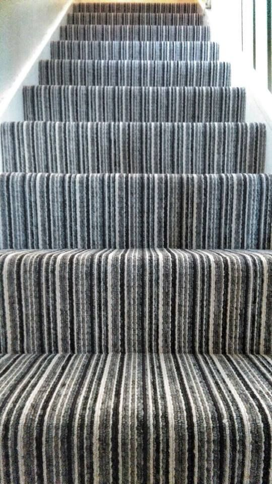 This Stripped Loop Pile Carpet Is A