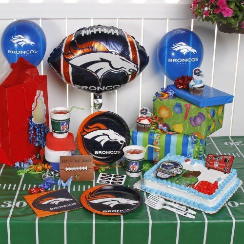 NFL Denver Broncos Birthday Party Kit (96-Piece) By TNT. $39.99. From Invitations To Decorations