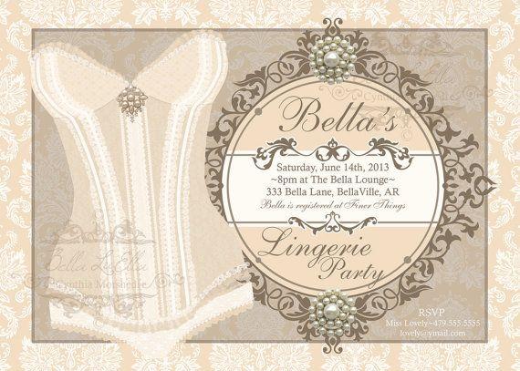 Lingerie Party Invitation Theme  Bachelorette Party Pinterest - invitation to a party