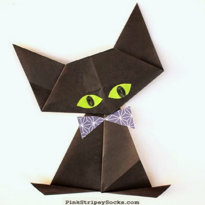 Halloween origami for kids septembre loisirs cr atifs et creatif - Pliage serviette halloween ...
