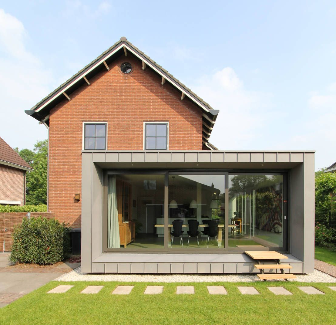 Prachtige uitbreiding van een jaren 50 woning moderne for Huizen moderne stijl