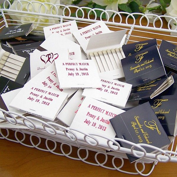 Wedding Ideas For 30 Guests: 30 Strike Safety Matches Personalized