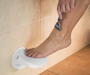 I so need this. If I had this I wouldn't have to put my leg on the wall, at a 90 degree angle, and attempt to not let my foot slide down the slippery wall, in an attempt to prevent skinning my leg. THIS IS A MUST HAVE!