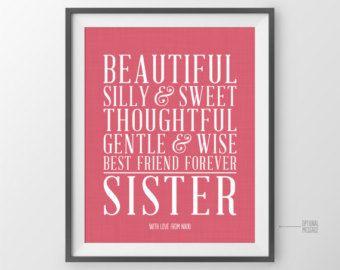 sister christmas gift for sister gift maid of honor sisters birthday gift sister christmas presents for sister best of friends - Gifts For Sister Christmas