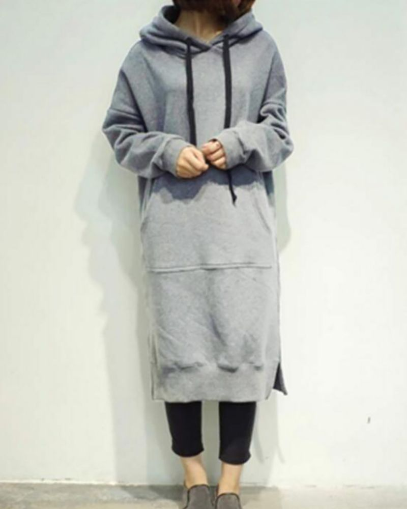c558481a3a Casual Oversized Maxi Hoodies Dress with Pockets – lalasgal ...