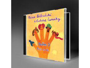 DEŤOM 5  - NAJPREDÁVANEJŠIE CD - Známe ľudové i zľudovelé piesne pre deti v pestrých hudobných aranžmánoch. Množstvo hudobníkov, ktorí na tvorbe CD spolupracovali je zárukou kvality i hudobného zážitku. CD bolo ocenené platinovou platňou.