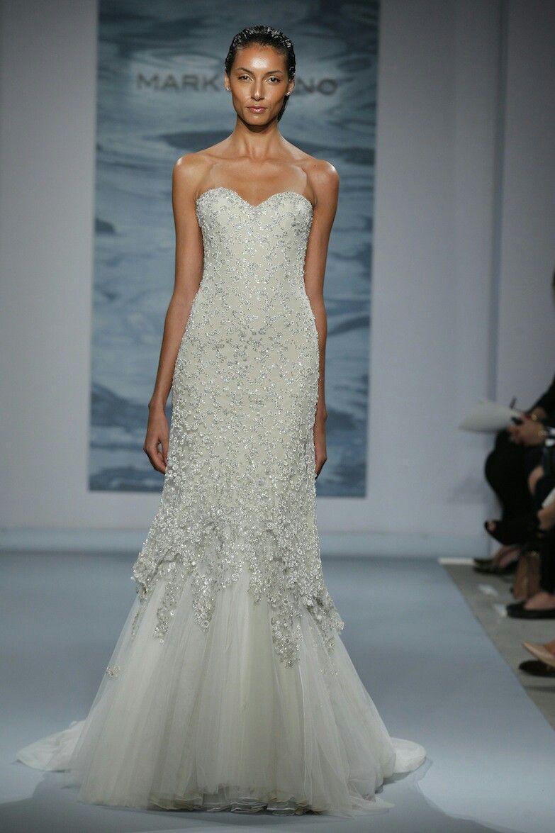 Mark Zunino 2015 | Bridal Gown--Sheath/Column Volume2 | Pinterest
