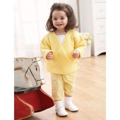 Garter Stitch Kimono | Knitting Patterns for Baby | Pinterest