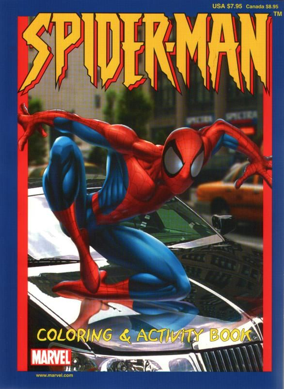 Spiderman Coloring Activity Book 2002 By Marvel New Paradise Press Inc 786943045017 Busyqueen Spiderman Coloring Spiderman Book Activities