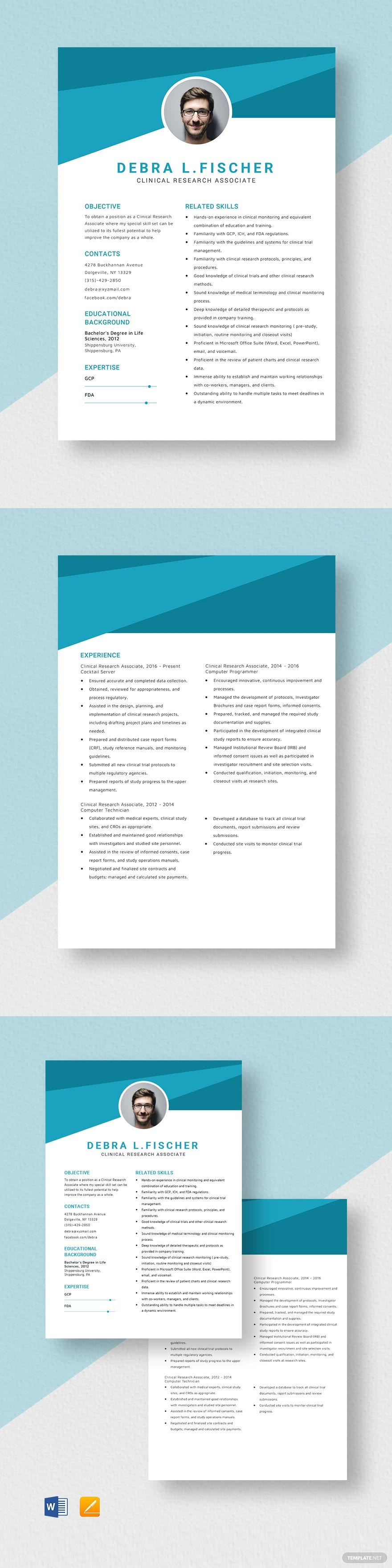 Clinical research associate resume template ad paid