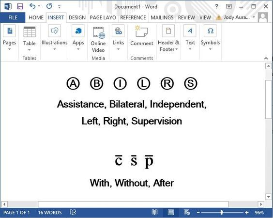 Inserting Medical Symbols In Microsoft Word Documents For Soap