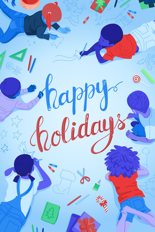 Freepik company wishes happy holidays with unicef inspired