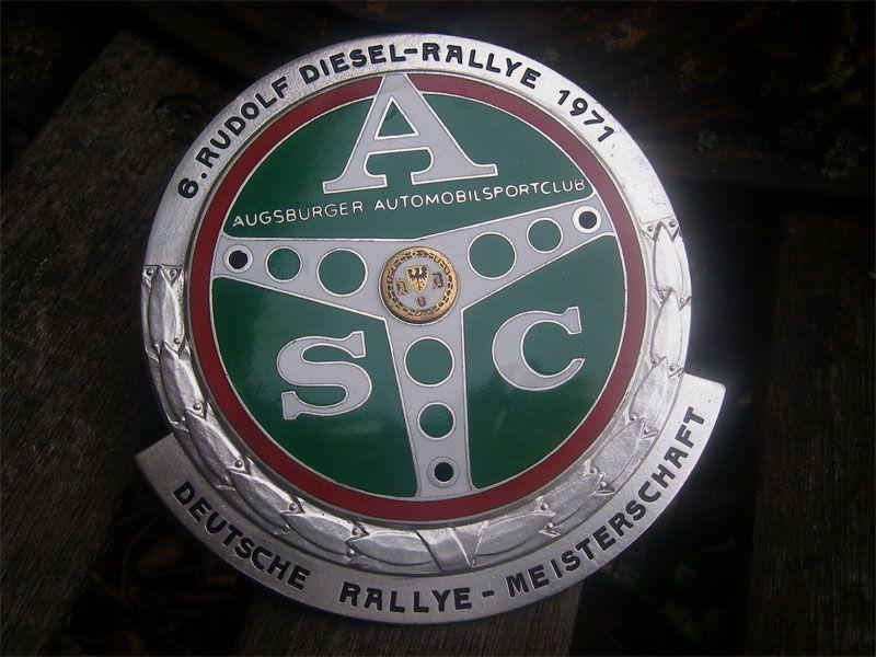 1971 Rudolf Diesel Rally Car badges, Vintage cars, Diesel