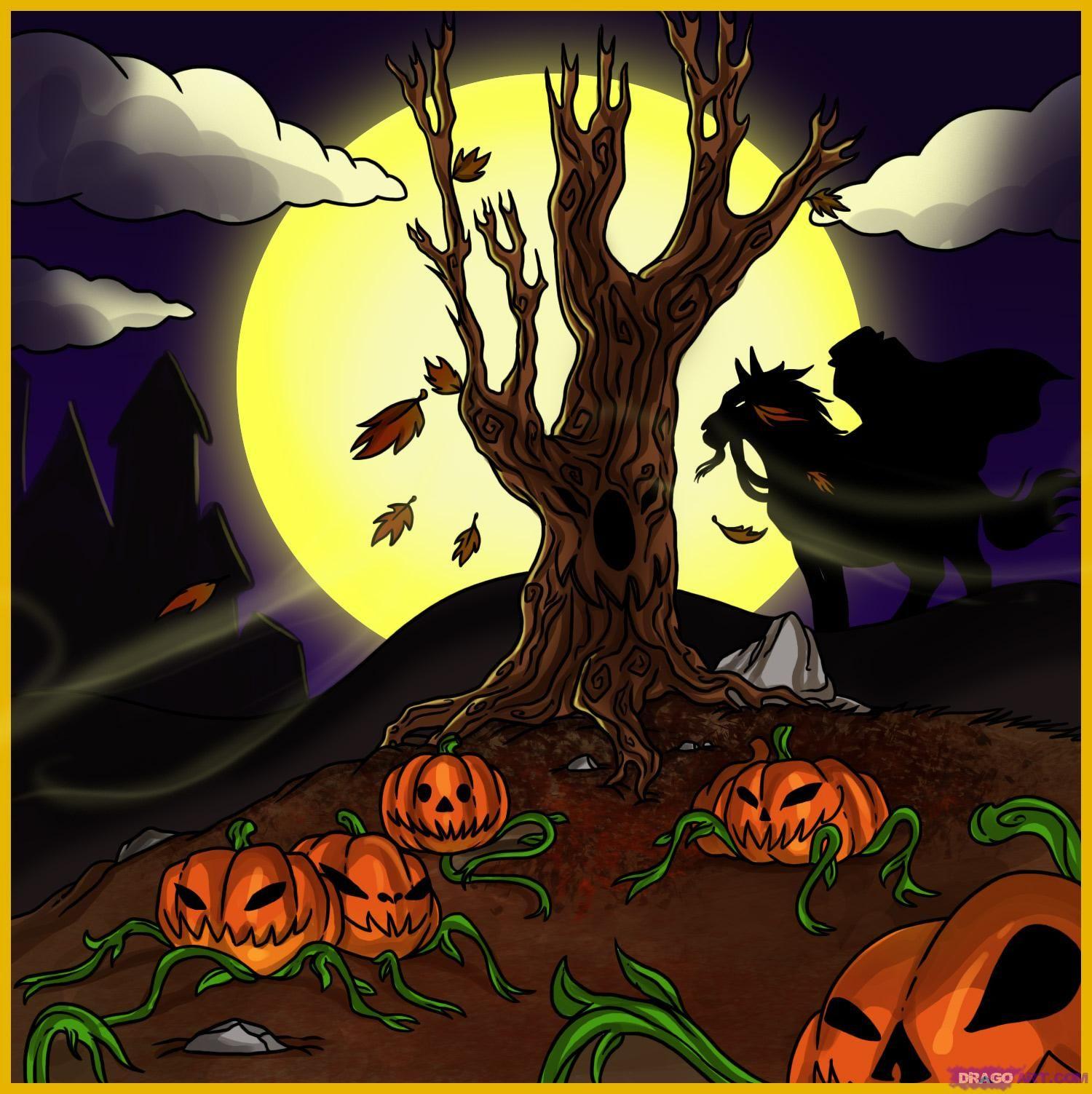 Draw Pumpkin Google Search Drawings Halloween Pictures Halloween Moon
