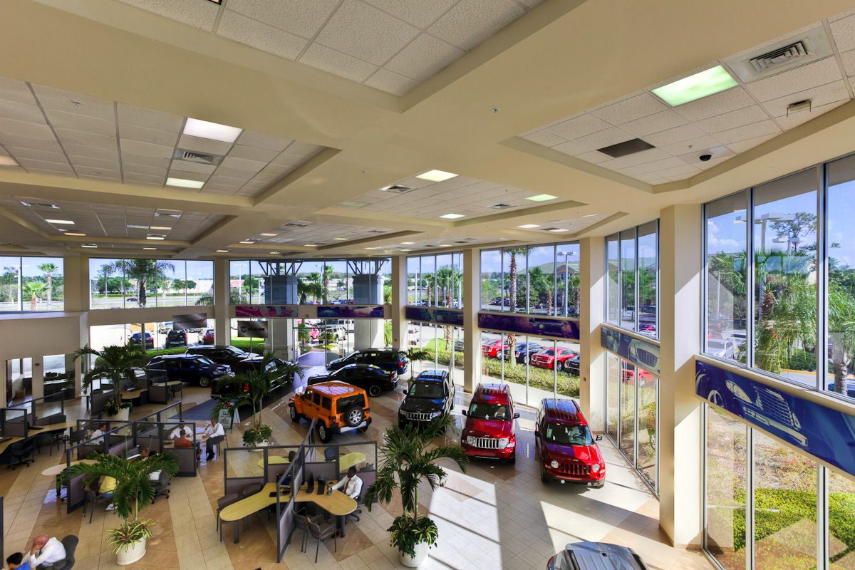 With The Interior Showroom Size Where We Can Park Up To 30 Cars