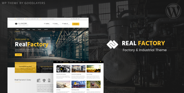 Real Factory - Factory / Industrial / Construction WordPress Theme ...