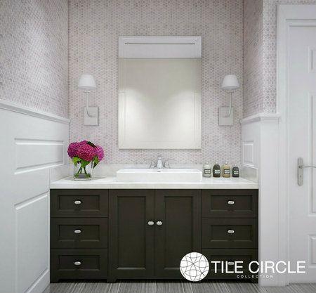 Aspen White Marble 1 Hexagon Tile Bathroom Backsplash White