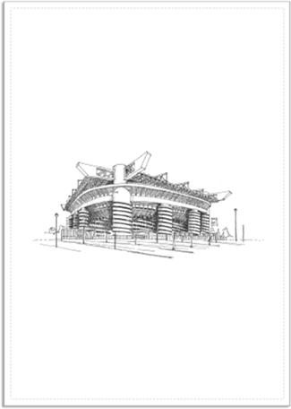 San Siro (Giuseppe Meazza) Stadyumu Kendin Tasarla - Poster