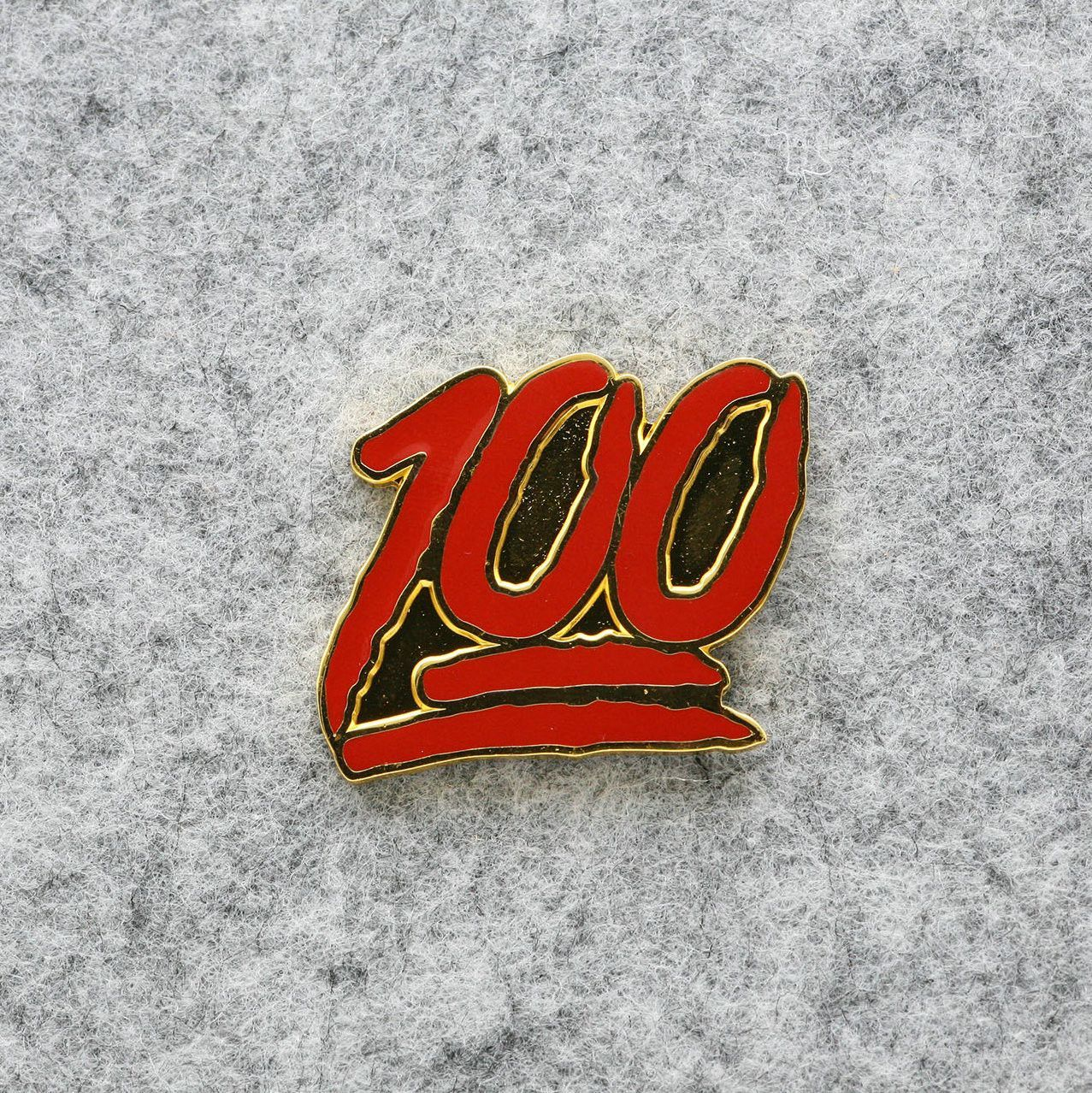 Emoji 100 score enamel pin lapel pin enamel pins no pun emoji 100 score enamel pin lapel pin buycottarizona